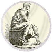 Aristotle Round Beach Towel