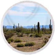 Arizona Desert Ride Round Beach Towel