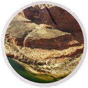 Arizona Horseshoe Bend Round Beach Towel