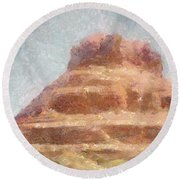 Arizona Mesa Round Beach Towel