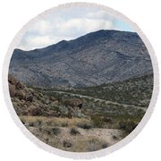 Arizona Mountains Round Beach Towel
