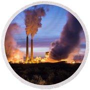 Arizona Power Plant Round Beach Towel
