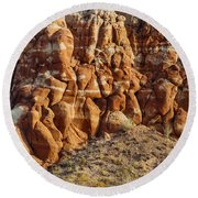 Arizona Rock Formation Round Beach Towel