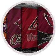Arizona Sports Teams Round Beach Towel