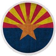 Arizona State Flag Round Beach Towel by Pixel Chimp