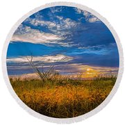 Arizona Sunset 27 Round Beach Towel