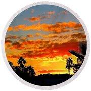 Beautiful Arizona Sunset Round Beach Towel