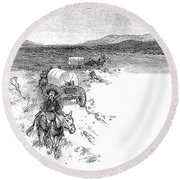 Arizona Tombstone, 1883 Round Beach Towel