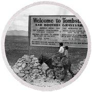 Arizona Tombstone, 1937 Round Beach Towel