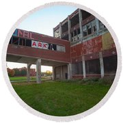 Ark At The Packard Plant Round Beach Towel