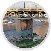 Arkansas River Walk Round Beach Towel