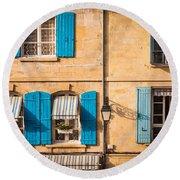 Arles Windows Round Beach Towel