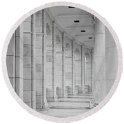 Arlington Amphiteather Arches And Columns Round Beach Towel