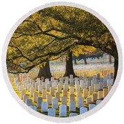 Arlington National Cemetery Washington Dc Round Beach Towel