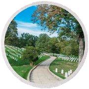 Arlington National Cemetery Part 2 Round Beach Towel