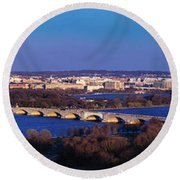 Arlington, Va - Wash D.c. - Panoramic Round Beach Towel