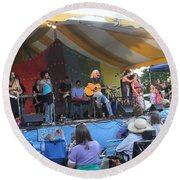 Arlo Guthrie And Family Round Beach Towel