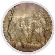 Arms Ghost Forest Round Beach Towel