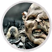 Army Of Orcs Round Beach Towel