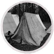 Army Tents Circa 1800s Round Beach Towel