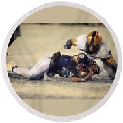 Army Versus Navy In The Snow 2013 Round Beach Towel