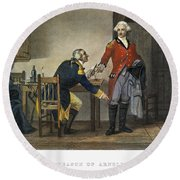 Arnold And Andre, 1780 Round Beach Towel