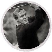 Arnold Palmer Pro-am Golf Photo Pebble Beach Monterey Calif. Circa 1960 Round Beach Towel