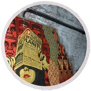 Arnolds And Graffiti Andre The Giant Has A Posse Round Beach Towel