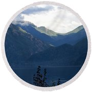 Around Lake Crescent - Washington Round Beach Towel