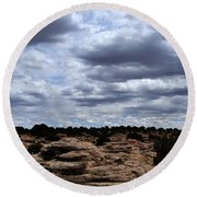 Around The Ranch Round Beach Towel