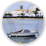 Arrecife On Lanzarote Round Beach Towel