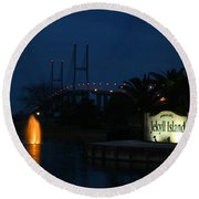 Arrival At Jekyll Island Round Beach Towel
