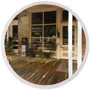 Arrow Rock Mo Post Office Dsc00567 Round Beach Towel