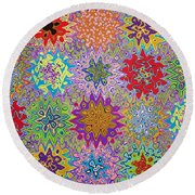 Art Abstract Background 13 Round Beach Towel