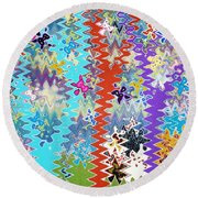 Art Abstract Background 14 Round Beach Towel