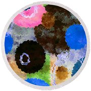 Art Abstract Background 19 Round Beach Towel