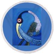 Art Bird Round Beach Towel