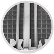 Art Deco Address In Montreal Round Beach Towel