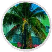 Art Deco Boulevard Hotel Miami Round Beach Towel
