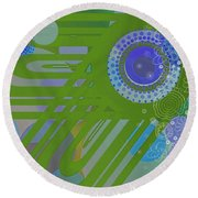 Art Deco Explosion 2 Round Beach Towel