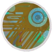 Art Deco Explosion 4 Round Beach Towel