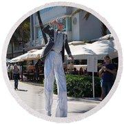 Art Deco Festival Street Scenes Round Beach Towel