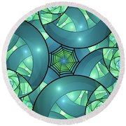 Art Deco Round Beach Towel