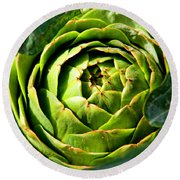 Art E. Choke - Artichokes By Diana Sainz Round Beach Towel