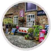 Art In The Mill Round Beach Towel