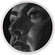 Art In The News 40-self Portrait Round Beach Towel
