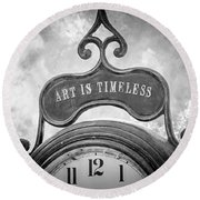 Art Is Timeless Round Beach Towel