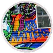 Art Matters Round Beach Towel
