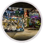Art Of The Underground Round Beach Towel by Heather Applegate
