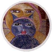 Art Picasso Cats Round Beach Towel
